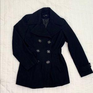 Apt. 9 Black Button Down Pea Coat Size Medium